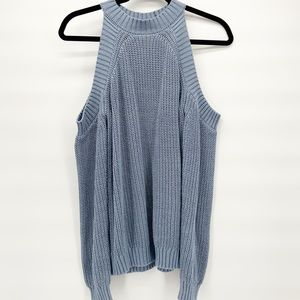 Forever 21 Cold Shoulder Knitted Sweater | Small
